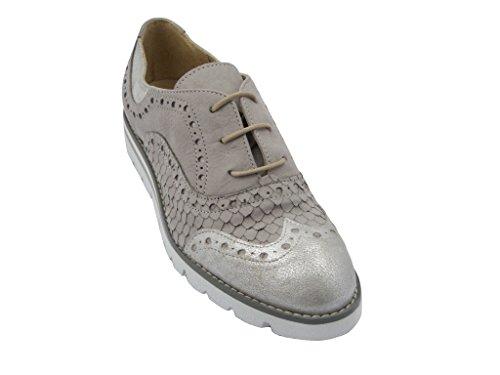 de Zapatos mujer para OSVALDO PERICOLI cordones gris aEw6FxFOqR