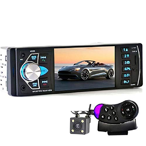SPFCAR Car Portable Radio Music Player with Rear View Camera Support Bluetooth MP5/FM Transmitter Car Video with Remote Control