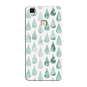 Cover It Up - White Cyan Drops V3 Hard case