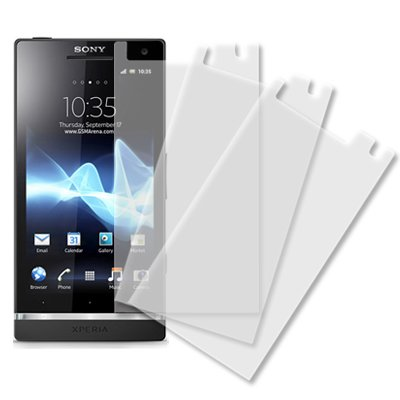 outlet store e930f 6f9c3 Sony Xperia S LT26i Screen Protector Cover, MPERO Sony Xperia S LT26i 3  Pack of Screen Protectors [MPERO Packaging]