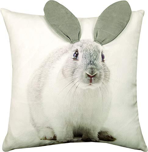 Manual Woodworkers ArtFuzz 3D Bunny Printed Pillow 18