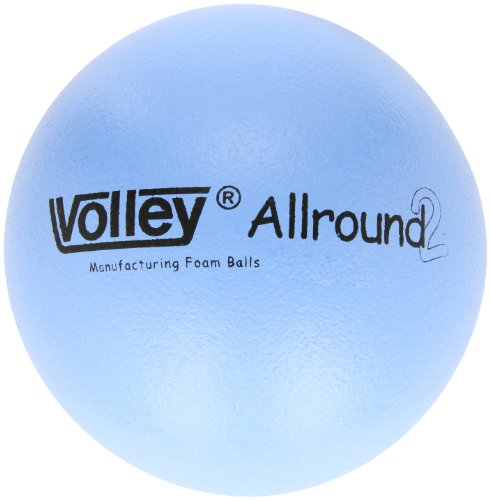 "Volley Foam SuperSkin 2 AllRound Medium/Low Bounce Ball, High Optic Blue, 7"" Dia."