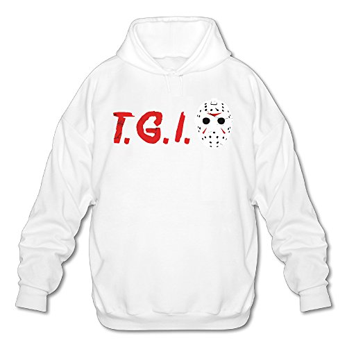 TGIF Firday Vibe Men's Fleece Hoodie Adult Sweater White M