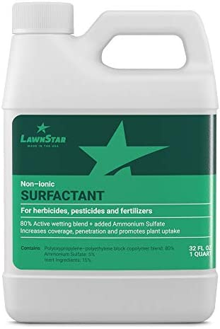 Non-Ionic Surfactant (32oz - 2 Pints) for Herbicide, Pre-Emergent & Fertilizer - Premium Spreader Sticker Boosted with Ammonium Sulfate - Increase Coverage, Penetration, Maximize Spray Performance