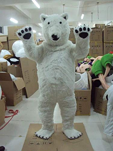 YUJUAN Cartoon Animal Polar Bear Cosplay Mascot Costume Performance Prop (M(160-175CM))