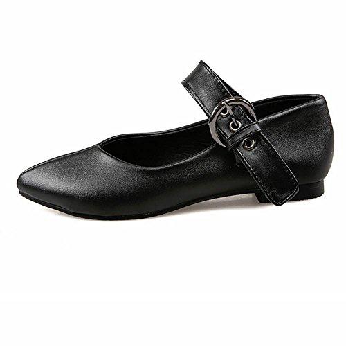 H HLe donne delle quattro stagioni (nero. Bianco. Rosso) tempo libero levigatura scarpe tacco piatto traspirante indossare-resistere antiscivolo , red , 37