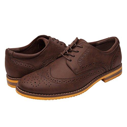 Image of GlobalWin Mens Dk Brown Oxford Shoes 9.5M, Dark Brown