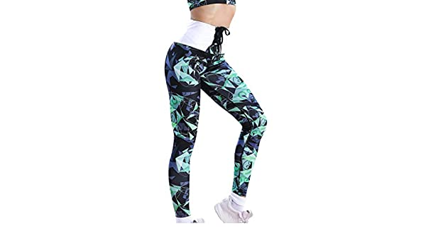 Cintura Media de Yoga Pantalones, Mujer Geometría Impresión ...