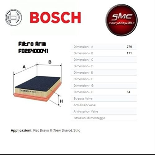 Juego para revisión ITV con 4 filtros Bosch + filtro combustible UFI originales + 5 litros de aceite para motor Selenia 5W30: Amazon.es: Coche y moto