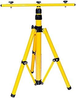 Treppiede per faretto a LED, faretto alogeno, eccetera, regolabile in altezza fino a 1,6m, colore: giallo