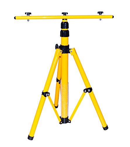 Treppiede per faretto a LED, faretto alogeno, eccetera, regolabile in altezza fino a 1,6m, colore: giallo KFZTEILESCHNELLVERSAND24