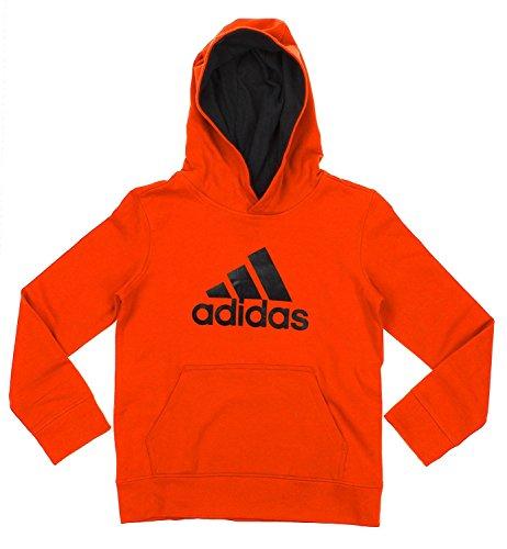 Adidas Big Boys Youth Game Ready Pullover Fleece Hoodie, BD Orange Black ()