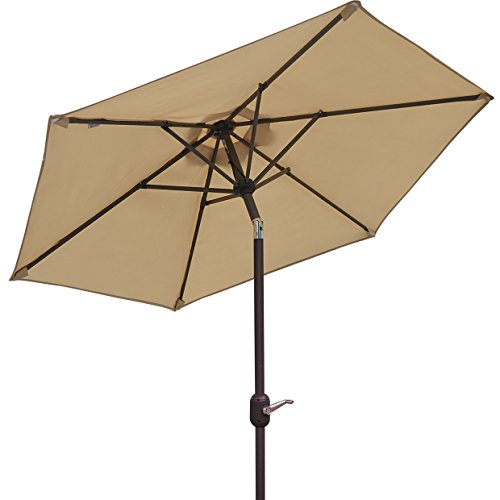 6.5′ Parasol Patio New Garden Patio Umbrella Sunshade Market Outdoor-Beige Review