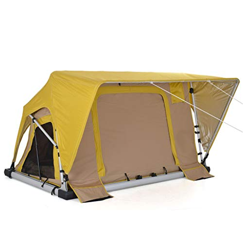 ADKINC 87″ Roof Top Tent, Camper Trailer Rooftop Tent with Ladder for Car& Truck Camping Car Top Auto Tent Waterproof Hard Shell, (with Hydraulic System)