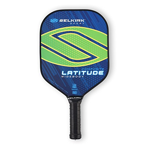 Selkirk Latitude Widebody Composite Pickleball Paddle - USAPA Approved - PowerCore Polymer Core - PolyFlex Composite Surface - EdgeSentry Protection - ThinGrip Handle (Lakeside Lime)