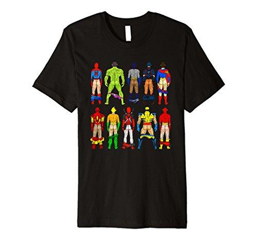 Superhero Butts Tshirt Action Heros 4 Women Men Guys Adults