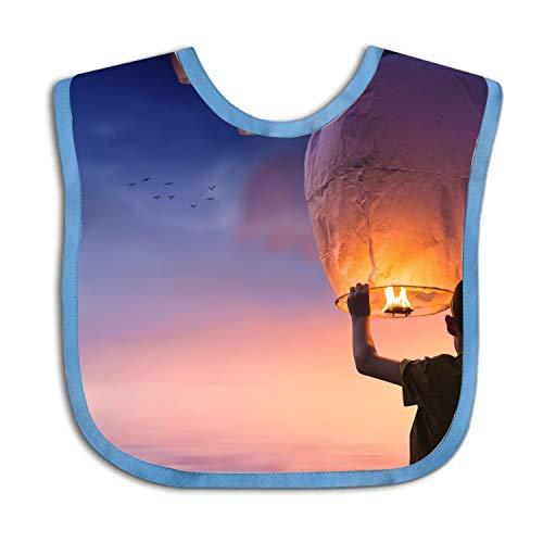 (Sky Lantern Balloon Pray Personalized Scarf Bib Feeding & Teething Fancy Baby Bibs and Burp Cloth Polyester Cotton)