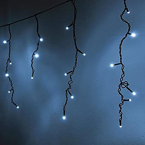 ledwholesalers 164 feet 120 led icicle christmas holiday lights with green wire blue 2064bu - Blue And Green Christmas Lights