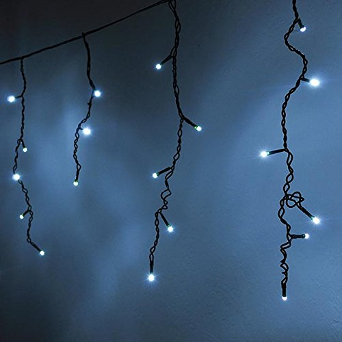 Blue And White Icicle Led Christmas Lights