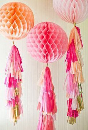 Amazon Com 20pcs Tissue Paper Tassel Garland Craft Bunting Pom