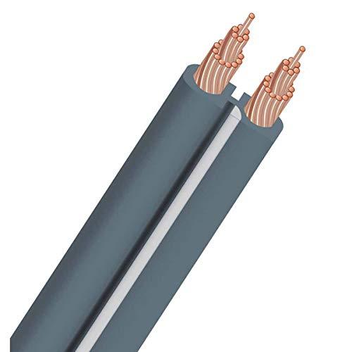 AudioQuest X-2 Flat Series 14 Gauge Speaker Cable 100 ft. (Grey)