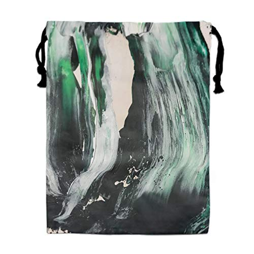 1pcs Black White Teal Abstract Painting Sling Bag Backpack Waterproof Party Favor Girl ()