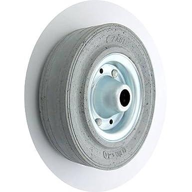 Rad (Code:50N S) mit Vollgummireifen Ø 180mm Gummiräder Gummirad Industrierad (50N S/Ø180/BR20/grau) zscale