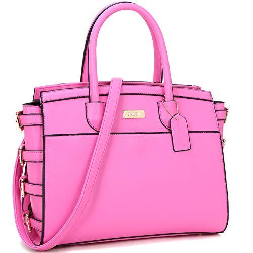 Side Buckle Satchel Handbag Designer Large Purse with Shoulder Strap Hot (Womens Side Buckle)