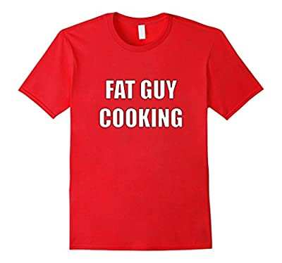 Men's Fat Guy Cooking Funny Cook T-Shirt