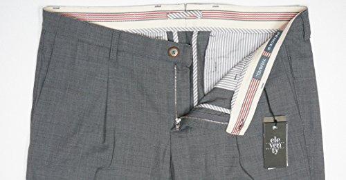 NEW $495 ELEVENTY GRAY 95% WOOL PENCES TRAVEL PLEATED CUFFED DRESS PANTS SZ 36 by Eleventy (Image #6)