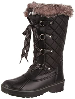 Storm by Cougar Women's Aspire Quilted Winter Boot, Black, 6 M US