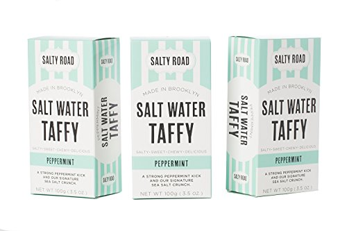 (Peppermint Gourmet Salt Water Taffy, the Salty Road, 3-pack)