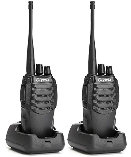 Walkie Talkies Long Range Two-Way Radio Rechargeable for Adults 1800mAH Battery Ultra-Long Standby Up to 6 Miles Loud Clear 16CH UHF Portable Security 2 Way Radios Olywiz 826 2 Pack