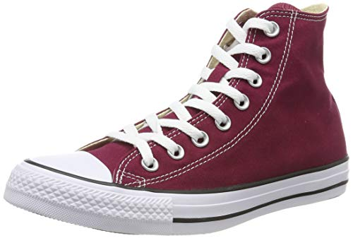 Converse Unisex All Star Hi Maroon Basketball Shoe 8 Men US / 10 Women US Red (Maroon) (Hi Top Tennis Shoes)