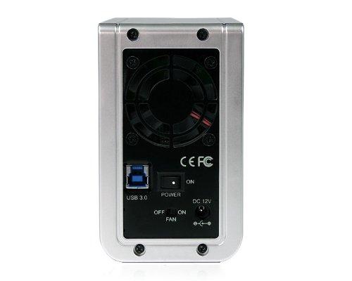StarTech.com Dual Bay SATA External Hard Drive Enclosure with USB 3.0 RAID 3.5-Inch Hard Drive Disk (SAT3520U3SR)