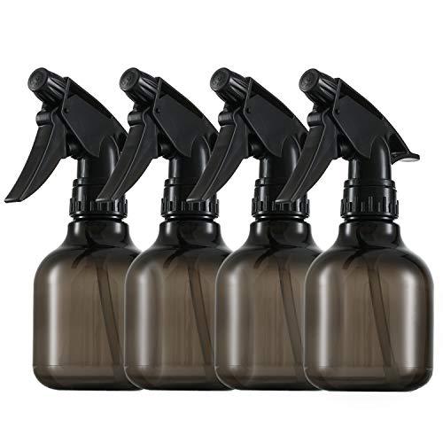 Plastic Smoke Spray Bottles 8 Oz, Pack of 4: Durable Empty Water Sprayers with Adjustable Mist to Stream Settings - Leak Proof BPA Free - Waterproof Labels - 8 Oz Adjustable Spray Bottle