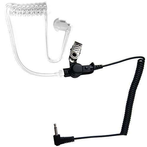 3.5mm Police Listen Only Acoustic Tube Earpiece Headset for Radio Speaker Mic by The Comm Guys