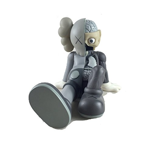 12 Inch Kaws BFF Sit Sitting Dissected Companion Original Fake Art Toys Action Figure Figurine Plush Doll Toy Model Statue Accessories Collection 3 Color Black Brown Grey Fancy Morden Gift