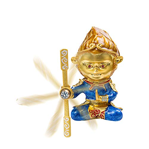 LSM store Mini Monkey King Figurine/Sun Wukong Statue Aromatherapy Revolve Automobile Decoration