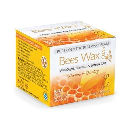 Bienenwachs Feuchtigkeitscreme Naturkosmetik | 100% Organische Inhaltsstoffe | Bekämpft Trockene Haut | Hautpflege bei Rosazea, Schuppenflechte, Neurodermitis, Eczema | 50ml