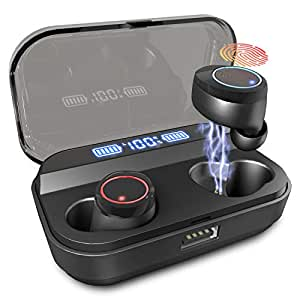 U-ROK Wireless Earphones Bluetooth 5.0 Earbuds with 4000mAh Charigng Case LED Digital Display Touch Control 90H Playtime in-Ear Headphones IPX7 Waterproof Headset Built-in Mic for Sport and Gym