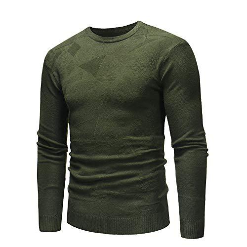 Automne Slim Maille Armée Verte Jumper En Malloom D'hiver Homme Pull Chemisier Outwear wES5qY