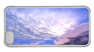 Hipster cheap iPhone 5C case sky clouds hd PC Transparent for Apple iPhone 5C