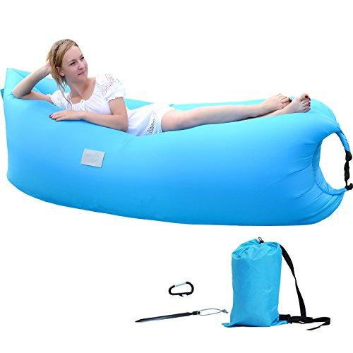 Original Inflatable Lounger, Nylon Fabric Light Weight Camping Mattres Sleeping Bag Large Bean Bag