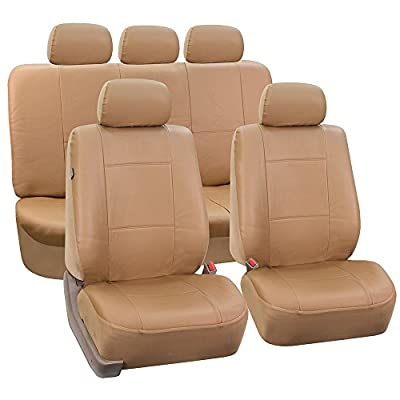 FH-PU002-1115 Classic Exquisite Leather Car Seat Covers, Airbag compatible and Split Bench