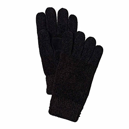 Isotoner Women's Thinsulate Lined Stretch Chenille Gloves - One Size - Black (Palm Suede Glove)