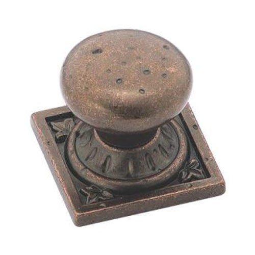 Amerock BP4484RBZ Ambrosia Euro Stone Square Knob, Rustic Bronze, 1-1/4-Inch by Amerock