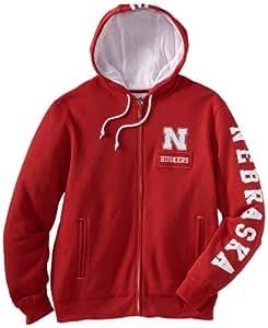 NCAA Nebraska Cornhuskers Men's Pride Full Zip (Red, Small)