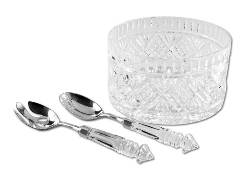 - Godinger Dublin 3-Piece Crystal Salad Set