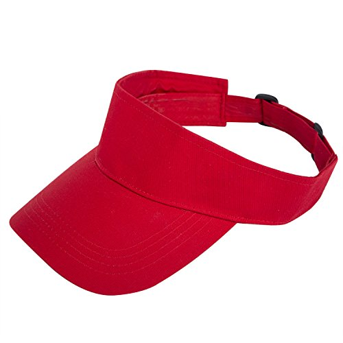TARTINY Unisex Premium Visor Cap - Lightweight & Comfortable Sun Protector Hat - Ideal For Sports & Outdoor Activities - Stylish & Elegant Design For Everyone(Red)